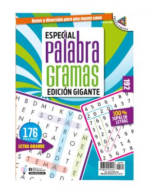 especial palabragramas, edicion gigante, 100% sopas de letras, letra grande, EPG192