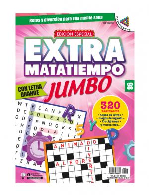 Extramatatiempo Jumbo, sopas de letras, juegos de ingenio, crucigramas