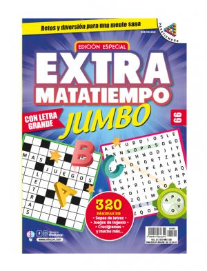Extramatatiempo Jumbo, sopas de letras, juegos de ingenio, crucigramas, EXMT99