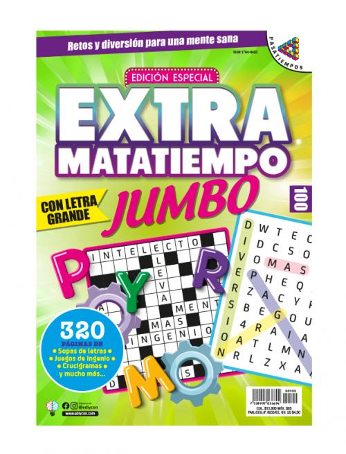 Extramatatiempo Jumbo, sopas de letras, juegos de ingenio, crucigramas, EXMT100