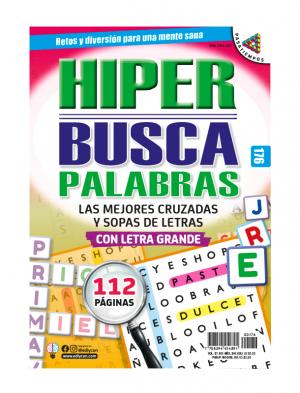 HIPER BUSCAPALABRAS, CRUZADAS, SOPAS DE LETRAS, LETRA GRANDE