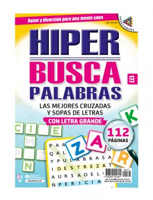 HIPER BUSCAPALABRAS, CRUZADAS, SOPAS DE LETRAS, LETRA GRANDE, HBP177