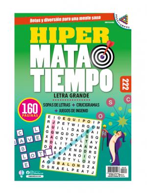 Sopas de letras, juegos de ingenio, crucigramas, Letra grande, HMT222