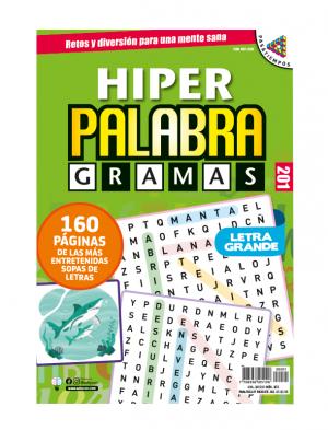 Sopas de letras, letra grande, hiper palabragramas, HPG 201