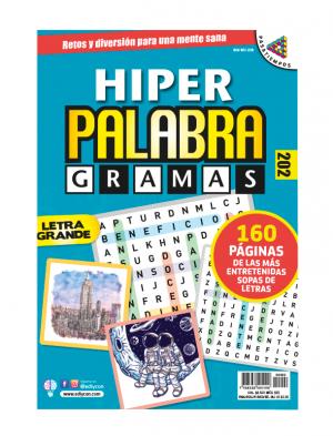 Sopas de letras, letra grande, hiper palabragramas, HPG 202