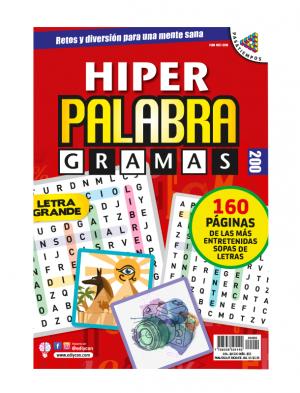 Sopas de letras, letra grande, hiper palabragramas