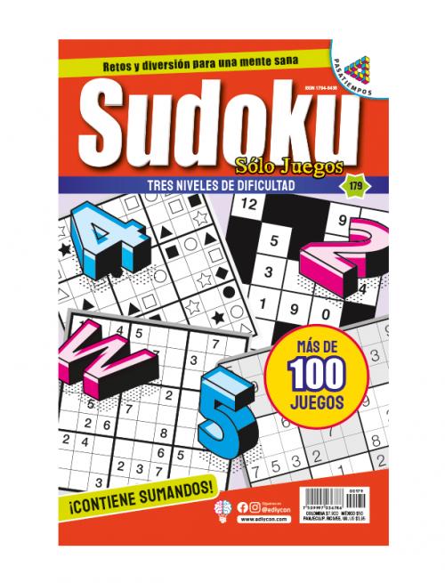 solo juegos, sudoku, niveles de dificultad, SJ179