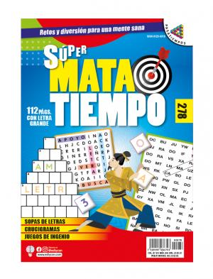 SUPERMATATIEMPO, SOPAS DE LETRAS, CRUCIGRAMAS, JUEGOS DE INGENIO