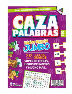 cazapalabras, jumbo, sopas de letras, juegos de ingenio, CZ562