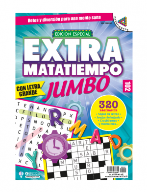 Extramatatiempo Jumbo, sopas de letras, juegos de ingenio, crucigramas,EXMT 102