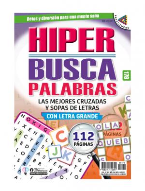 HIPER BUSCAPALABRAS, HBP 178 CRUZADAS, SOPAS DE LETRAS, LETRA GRANDE,