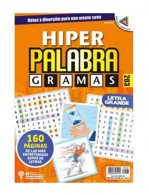 HPG 203, Sopas de letras, letra grande, hiper palabragrama