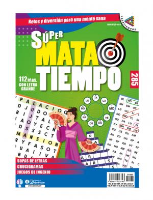 SUPERMATATIEMPO, SOPAS DE LETRAS, CRUCIGRAMAS, JUEGOS DE INGENIO, SMT 285