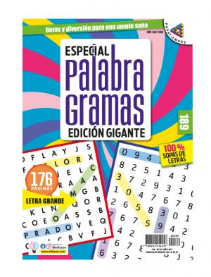 especial palabragramas, edicion gigante, 100% sopas de letras, letra grande