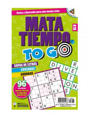 Mata Tiempo TOGO Sopas de letras, cruzadas, sudokus, tamaño de bolsillo, MTTG 878