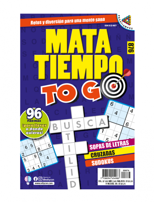 MataTiempo TO GO Sopas de letras, cruzadas, sudokus, tamaño de bolsillo