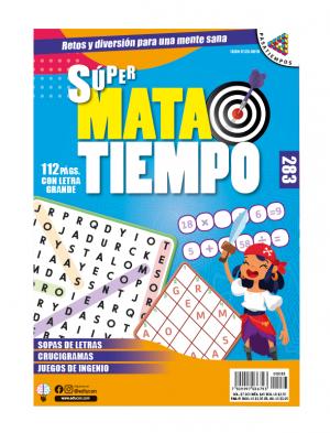 SUPERMATATIEMPO, SOPAS DE LETRAS, CRUCIGRAMAS, JUEGOS DE INGENIO, SMT 285 SMT 283 AJ OK
