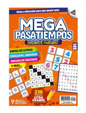 MEGAPASATIEMPOS 149, Megapasatiempos, sopas de letras, sudokus, juegos de ingenio