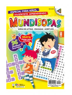 Mundisopas sopas de letras, cruzadas, acertijos para niños y niñas